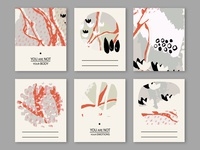 Set of creative abstract vector art cards.