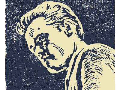 Chet Baker lino print print illustration