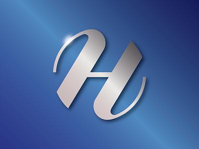 H logo branding logo design