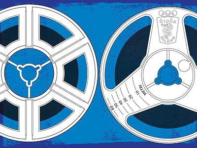 Reel to reel vector illustration design