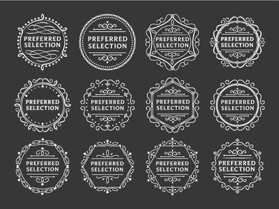 Supermarket Preferred Logo development vector design