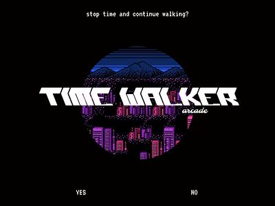 Time walker arcade branding logo design