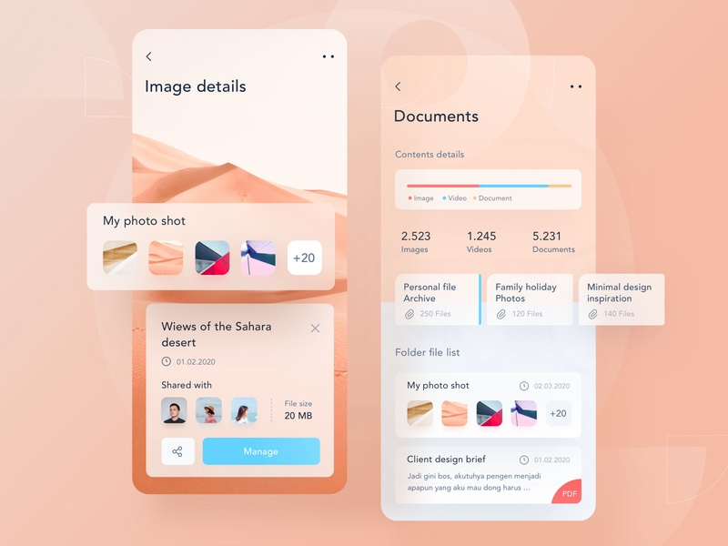 File management app 🌅 file manager sketch pattern card button icon modern clean file image design landing profile chart ui mobile app illustration dashboard website
