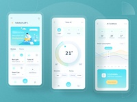 Smart home design 🏡 3d websites landing dashboard doctor covid clean website ui illustration dashboad charts icon electricity chart green ios mobile control home