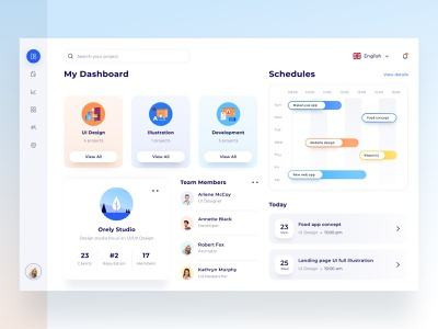 Team management dashboard laptop computer application simple modern timeline project member manage team logo illustration desktop landing profile chart ui clean website dashboard
