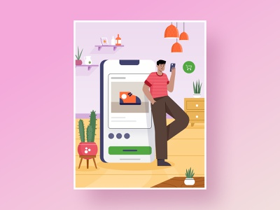 Ecommerce illustrations set dashboard map room computer stars ios mobile desktop serivce customer delivery package clothes rating money buy illustration card marketplace ecommerce
