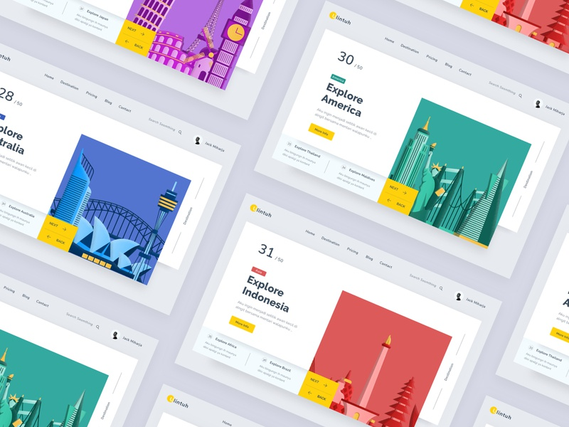 Travelling Website ux chart ui branding desktop profile landing design icon header logo typography clean android ios mobile dashboard minimal website illustartion