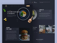 Catering company website project
