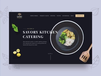 Catering company animation website