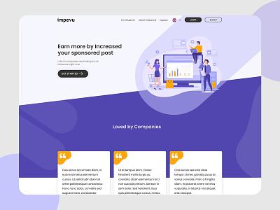 Impevu web page website illustration ui  ux webdesign