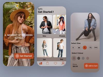 Clothing E-Commerce App ui  ux website illustration graphic design