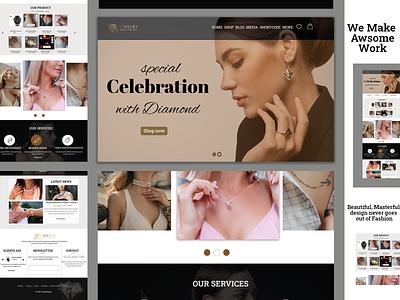 JEWELLERY - Jewellery Store E-commerce branding ui logo graphic design design dating app website ui  ux illustration