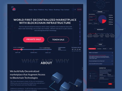 ICO- Crypto :- bitcoin & Cryptocurrency Landing page logo graphic design dating app website ui  ux illustration