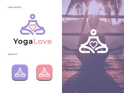 Yoga Logo, Yoga love logo business logo design modern yoga logo business logo yoga logo design yoga club logo yoga logo minimalist yoga logo flat minimlaist logo flat logo modern flat logo minimalist logo minimalist minimal logo design minimal logo logo typography vector graphic design design branding