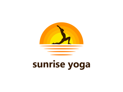 Sunrise Yoga | Yoga Logo Design fresh sunrise sun nature yoga studio wellness meditation logo yoga app yoga logo meditation yoga logotype minimal logo vector design logo branding