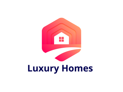Luxury Home | Modern Real Estate logo house home logo modern logo modern colorful gradient real estate logo real estate home minimal logo design logo branding