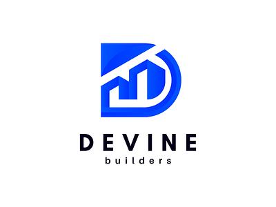 Modern D Letter Logo | Builders Logo d builders builders logo realestate real estate letter logo modern logo modern d logo d letter typography minimal logo design logo branding