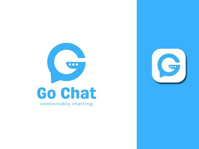 Go Chat App Logo | G letter logo app logo chat l a z y d o g letter logo app icon logo mark icon app a c d e f g h i j k l mn g logo g letter vector design logo branding