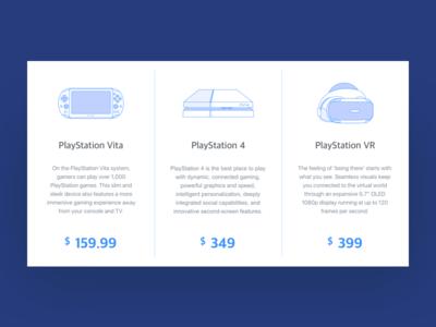 Pricing challenge ux ui pricing price vita playstation game vr illustration dailyui