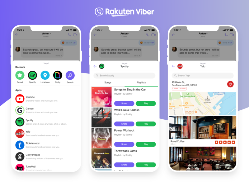 Viber In-Messaging Chat Extensions by Mathew Lyles on Dribbble