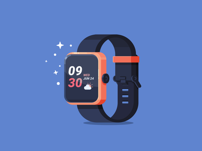 smartwatch smart watch cloud vector illustration inkscape