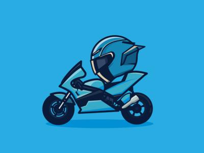 Blue motorcycle inkscape helmet blue motorcycle bike motobike motogp