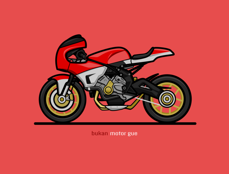 Red motorcycle simple motorcycle red illustration vehicle inkscape