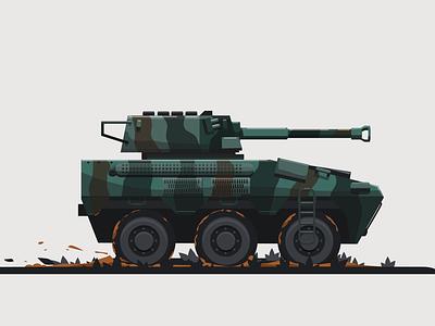 Panser Badak rhinoceros badak vector design army illustration inkscape vehicle
