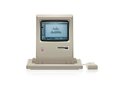Macintosh computer debut illustration icon pc device mac apple