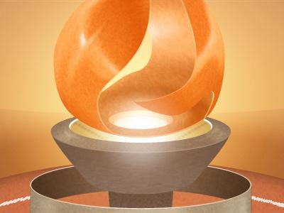 Torch illustration photoshop