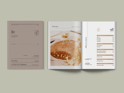 Simple and Elegant Company Proposal Indesign business corporate company creative agency modern elegant document annual report branding proposal template indesign document template print