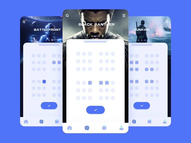 Movie App ai movie ui app icon principle sketch