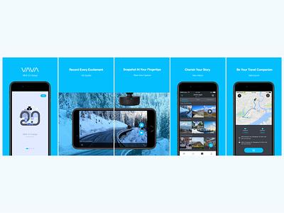 VAVA  Dashcam  App dash icon design ui gui sketch