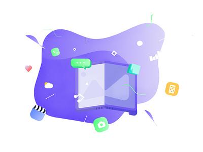 Folding screen screen folding design icon free illustrator