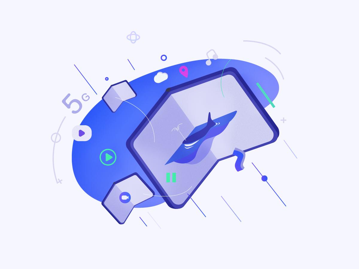 5G+Folding folding 5g line ai design illustration icon illustrator