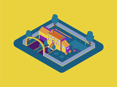 Isometric Dream House illustrator isometric house house isometric design isometric icons flatstyle color motion graphic gif illustration flat motion animation isometric illustration isometric 2d