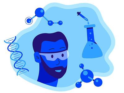 The Scientist character scientist the scientist ui logo design motion graphic gif illustration flat motion animation 2d