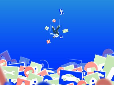 Overload explainer videoexplainer illustrator ui logo design motion graphic gif illustration flat motion 2d animation