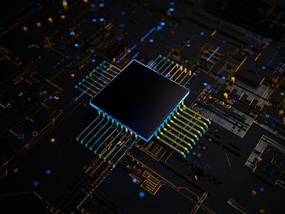 Chipset design motion graphic motion octane otoy apple chip animatic technology chipset after effect animation ui gif cinema 4d 3d animation c4d 3d