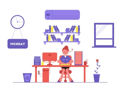 Nightmate Day! 3d isometric flat flatstyle character motion graphic animate animation animator motion 2d