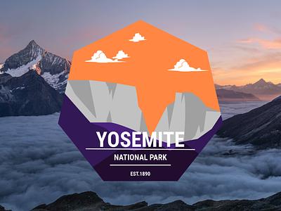 Yosemite National Park vector ui illustration logos branding app animation logo graphic design design