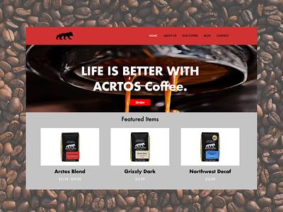 Acrtos coffee website vector ui illustration logos branding app animation logo graphic design design