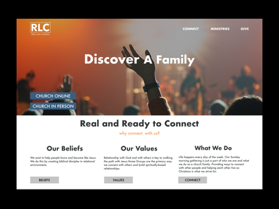 Real life church vector ui illustration logos branding app animation logo graphic design design