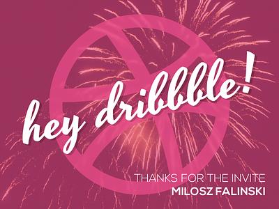 Hey Dribbble! dribbble debut debut fireworks