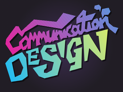 Communication Design Typography communication design typography digital illustrator sketch