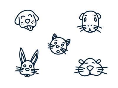 Vet Clinic Icons - Pt 2 guinea pigs rabbits hamsters cats dogs pets vet clinic veterinary clinic pet vet