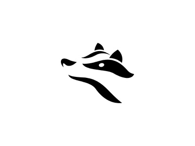 Badger Logomark mammal white black negative space logo logo mark animal wildlife british scotland badger