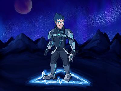 STORMOS #001 sci fi science fiction cosmos thunder superhero storm space sci-fi lightning illustration electric comic