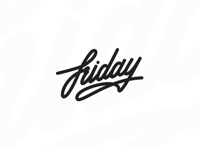 Friday lettering line type lettering friday
