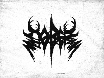 С О Б Е Р black metal death metal calligraphy typography sobersober logo lettering design type